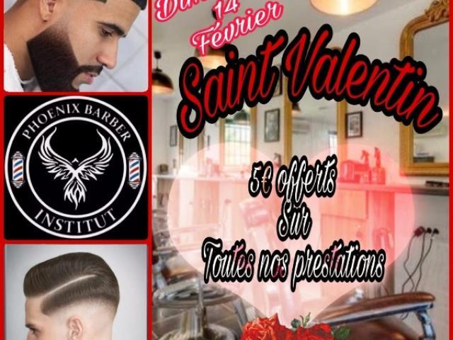 LA Saint Valentin le dimanche 14 février 2021 au phoenix barber institut